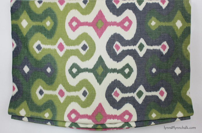 "Casual Shade in Martyn Lawrence Bullard Darya Ikat Jewel (Width is 30.5"")"