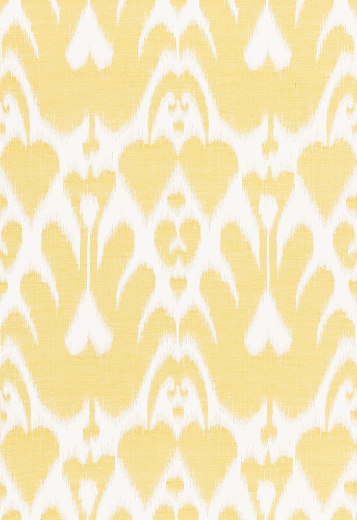 Lela Cotton Ikat Canary