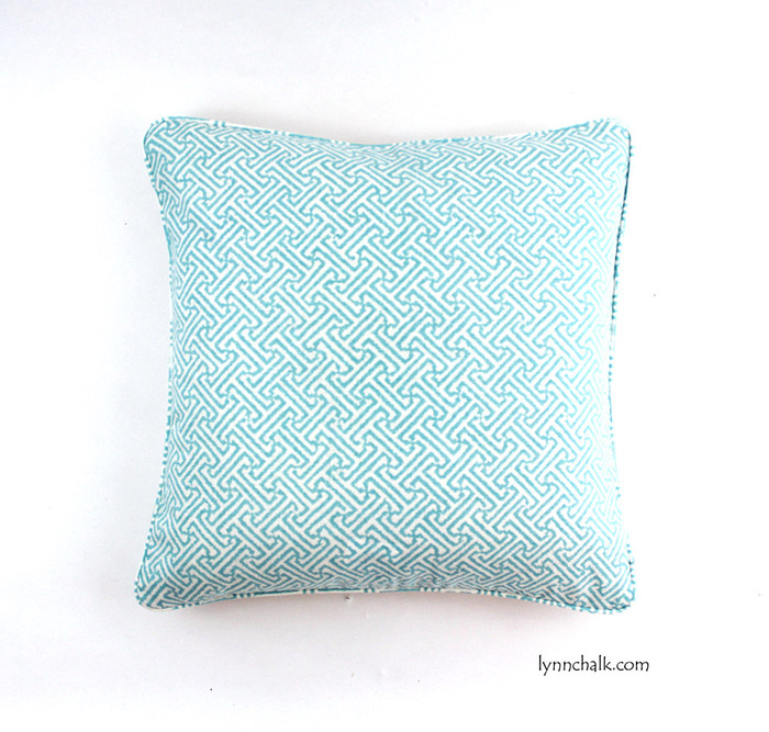 Quadrille China Seas Java Java Pillows (shown in New Blue -comes in 24 colors)