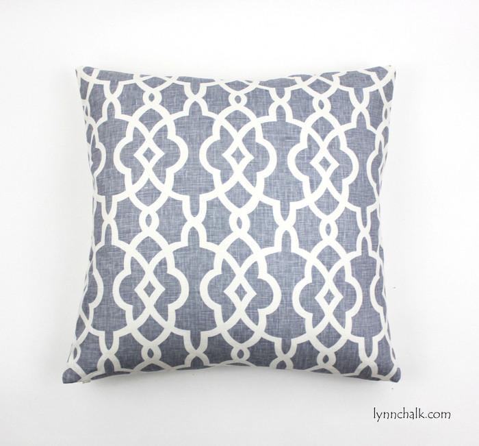 ON SALE Schumacher Summer Palace Fret Custom Pillows in Wisteria (22 X 22)