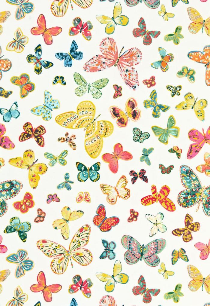 174900 Lulu DK Fabric Butterfly Multi