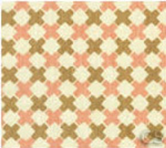 Double Cross Check Camel and Pink on Tint 4120-02