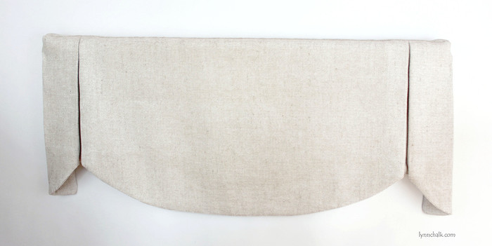 "Custom Valance in shown in Robert Allen Jute Chenille in Pearl.  This valance was 37"" Wide and 16"" Long."