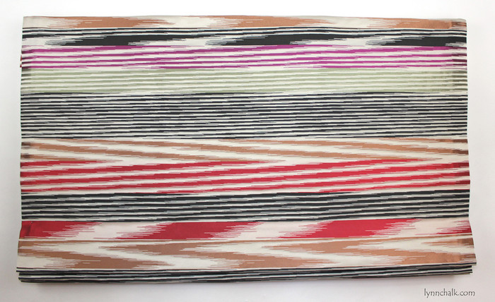 Missoni Nantes Roman Shade in Red/Black/Cyclamen