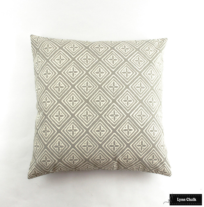 Pillow is 24 X 24 in Pewter on Tint 2490-02