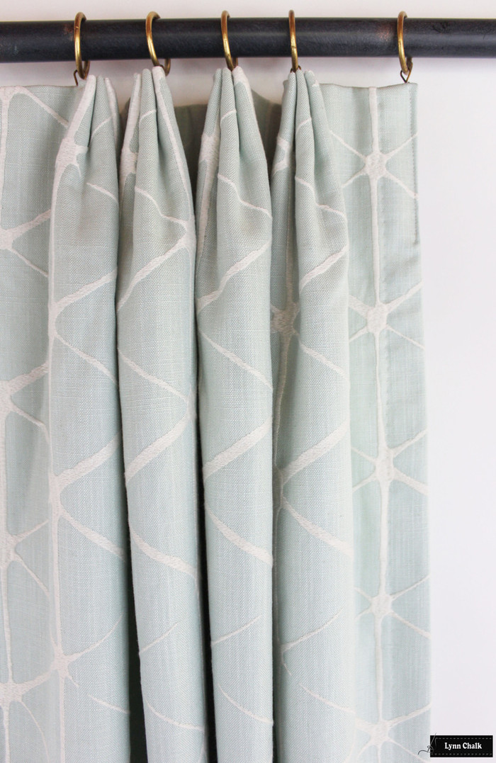 Drapes in Romo Haldon in Spearmint