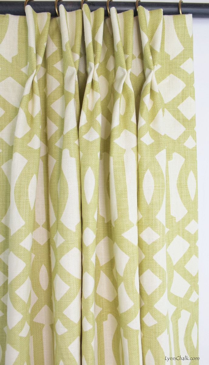 Drapes in Imperial Trellis Citrine