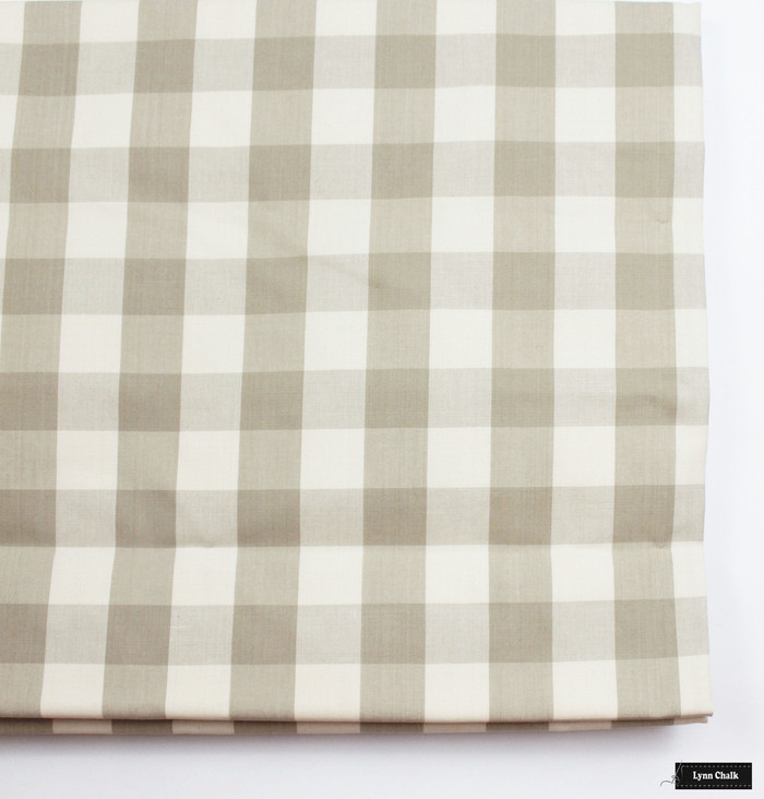 Schumacher Camden Check Roman Shades (shown in Beige-comes in many colors)