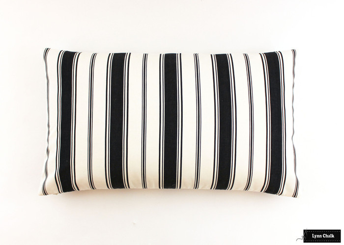 14 X 24 Pillow in Branca Stripe Noir