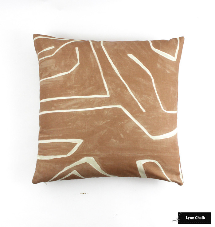 Kelly Wearstler Graffito Knife Edge Pillows in Salmon/Cream (comes in several colors)