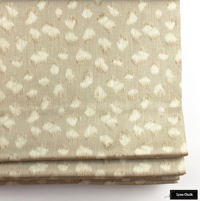 Kelly Wearstler Feline Roman Shade Beige Ivory