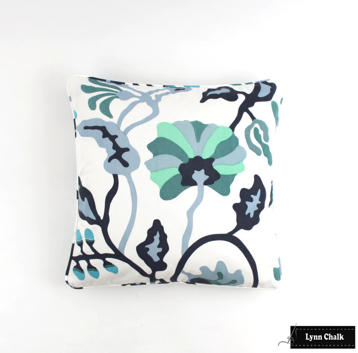 ON SALE Quadrille Alan Campbell Potalla Custom 20 X 20 Pillows with self welting (Both Sides) Only 2 Remaining at this Sale Price