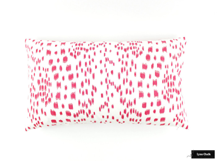 ON SALE Brunschwig & Fils/Lee Jofa Les Touches Pink Pillows (14 X 24) Only 2 Pillows Remaining At This Sale Price