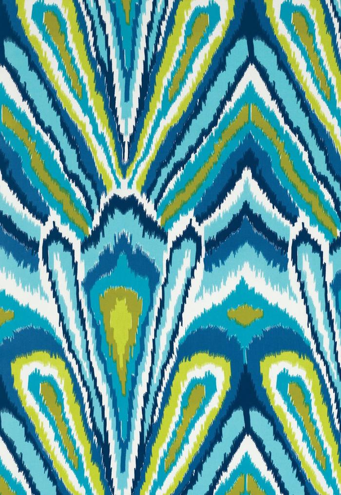 Trina Turk Peacock Print Pool