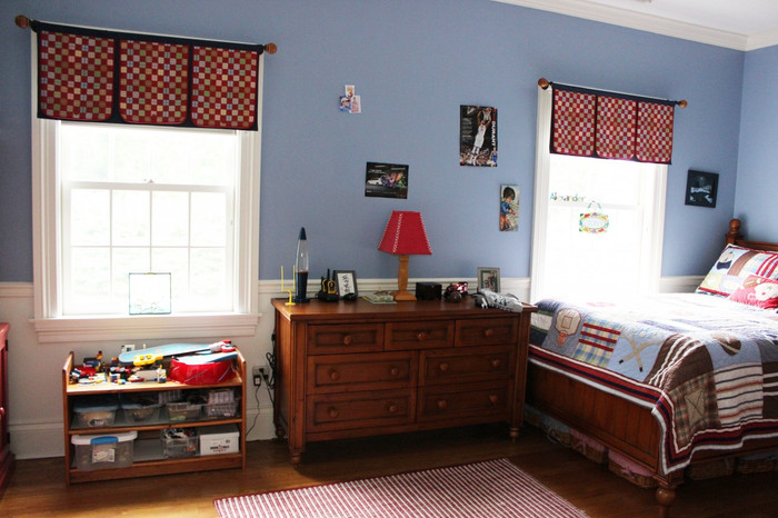 I designed these Custom Valances for a boys room.