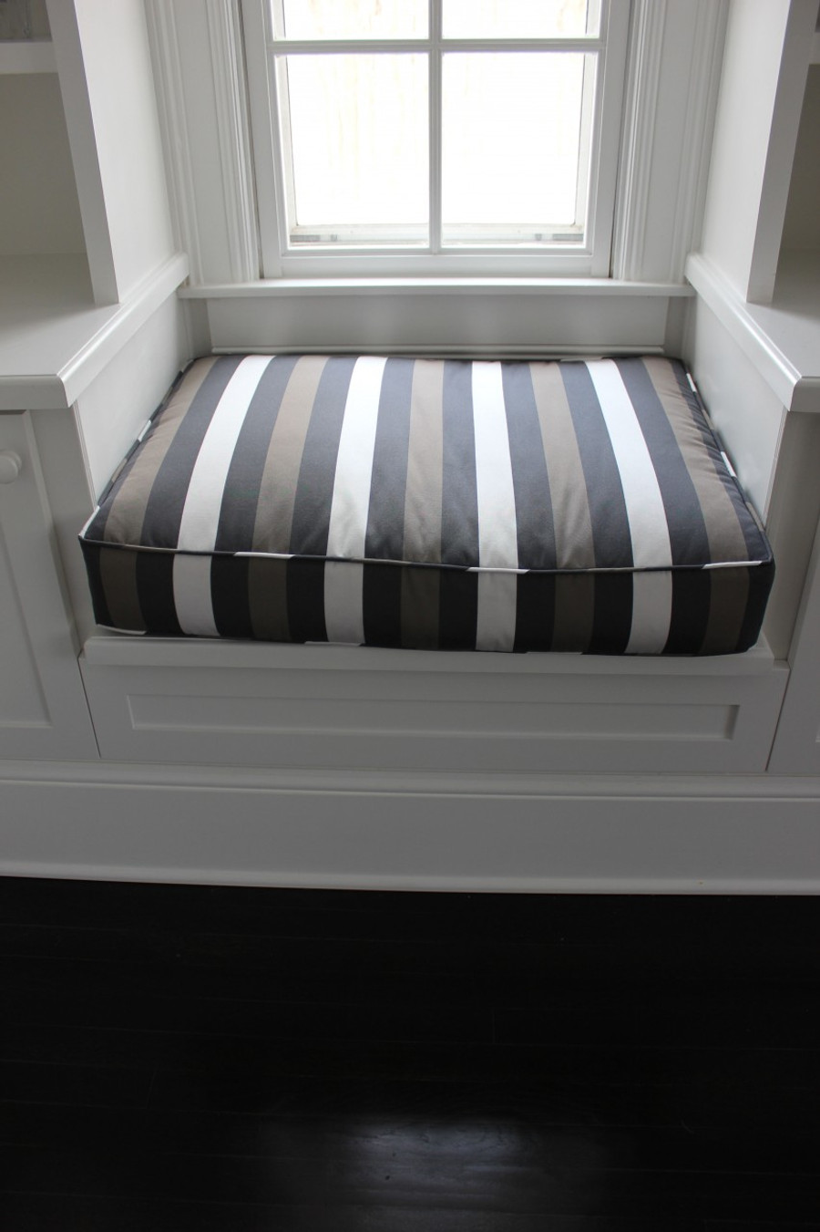 Cushions in Holly Hunt Beached in Rip Tide.  (Interior designed by Brian Numme)