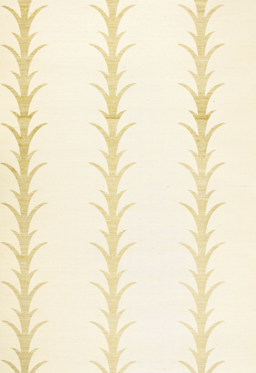 Celerie Kemble Acanthus Stripe Filigree Wallpaper