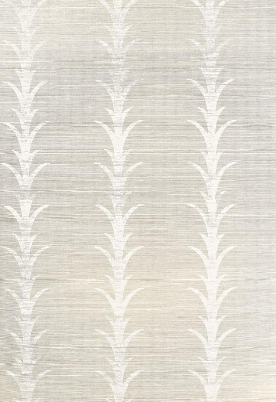 Celerie Kemble Acanthus Stripe Fog & Chalk Wallpaper