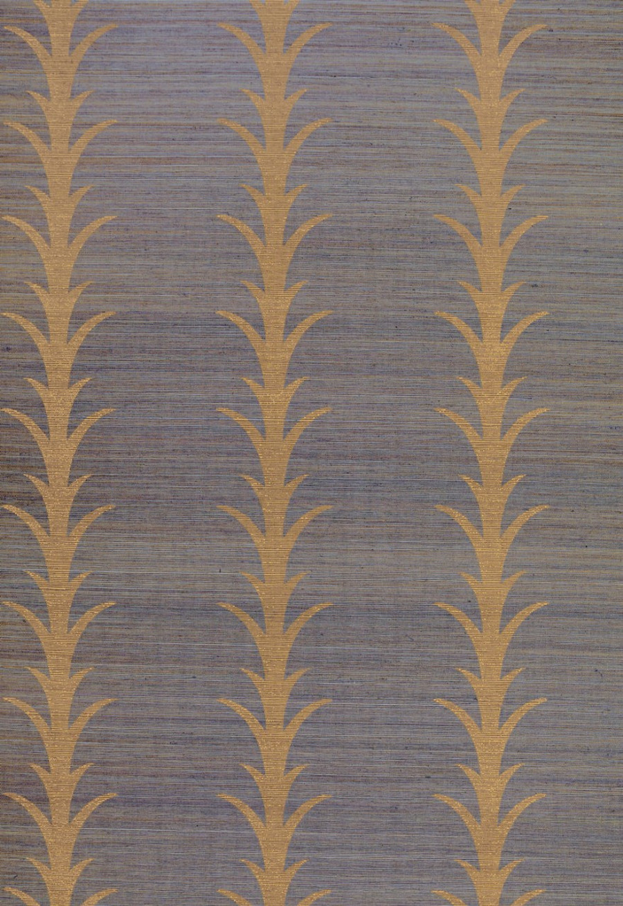 Celerie Kemble Acanthus Stripe Tumeric Wallpaper