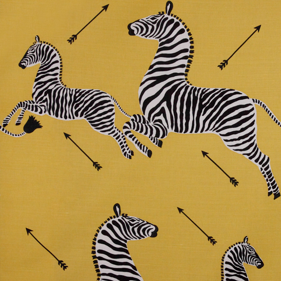 Scalamandre Zebras in Yellow