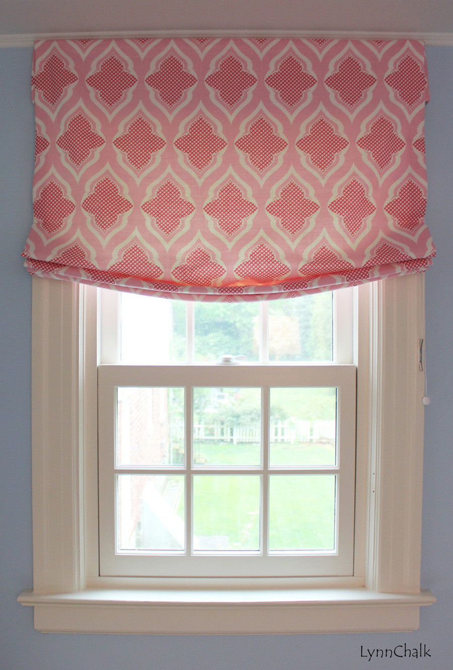 Christopher Farr Venecia Relaxed Roman Shade (Shown in Hot Pink-also comes in Aqua and Sage)
