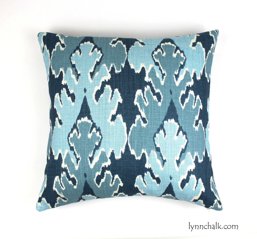 Custom Pillow by Lynn Chalk in Kelly Wearstler Bengal Bazaar in Teal (20 X 20)