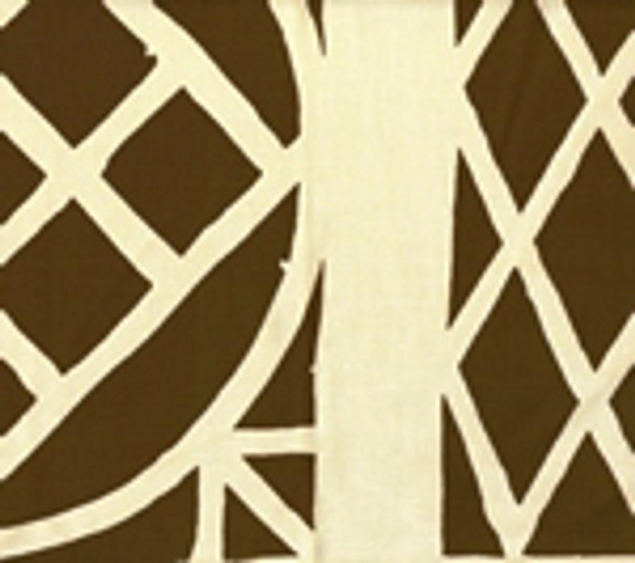 Quadrille China Seas Trellis Background Fabric Brown on Tint