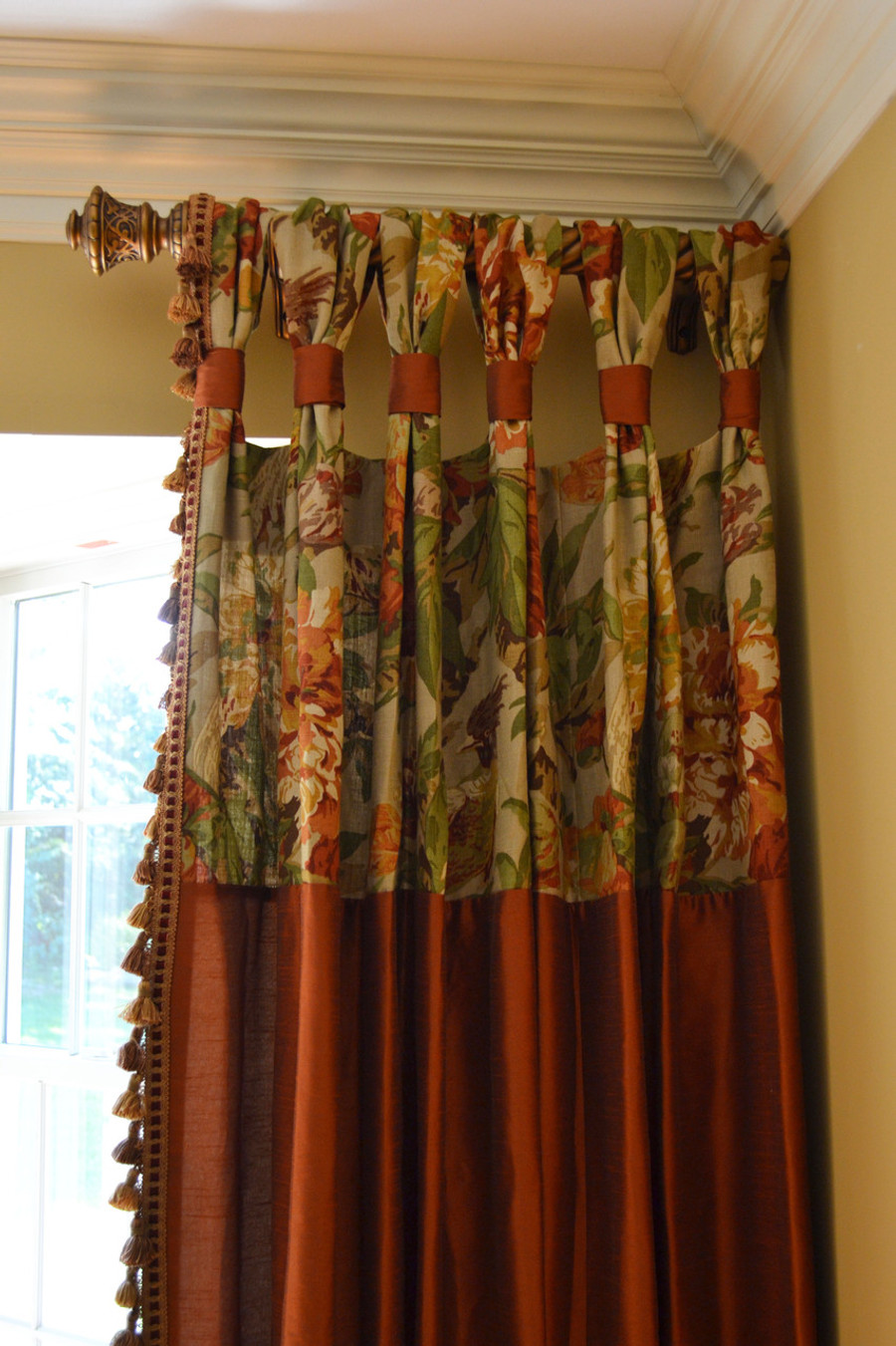 Gathered Tap Top Drapes For Dining Room Custom By Lynn Chalk