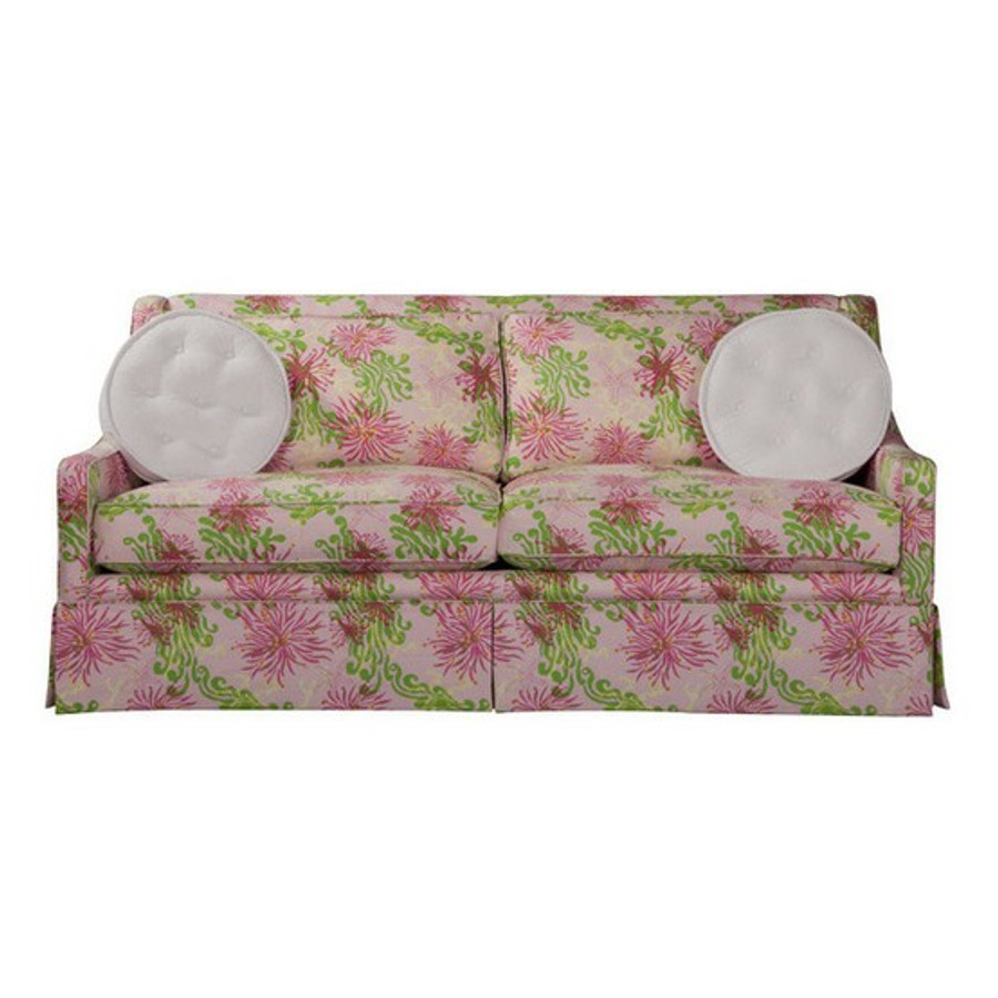 Sofa Lilly Pulitzer Bimini in Lilly Pink