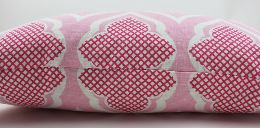 Christopher Farr Custom Pillows in Venecia in Hot Pink 12 X 22