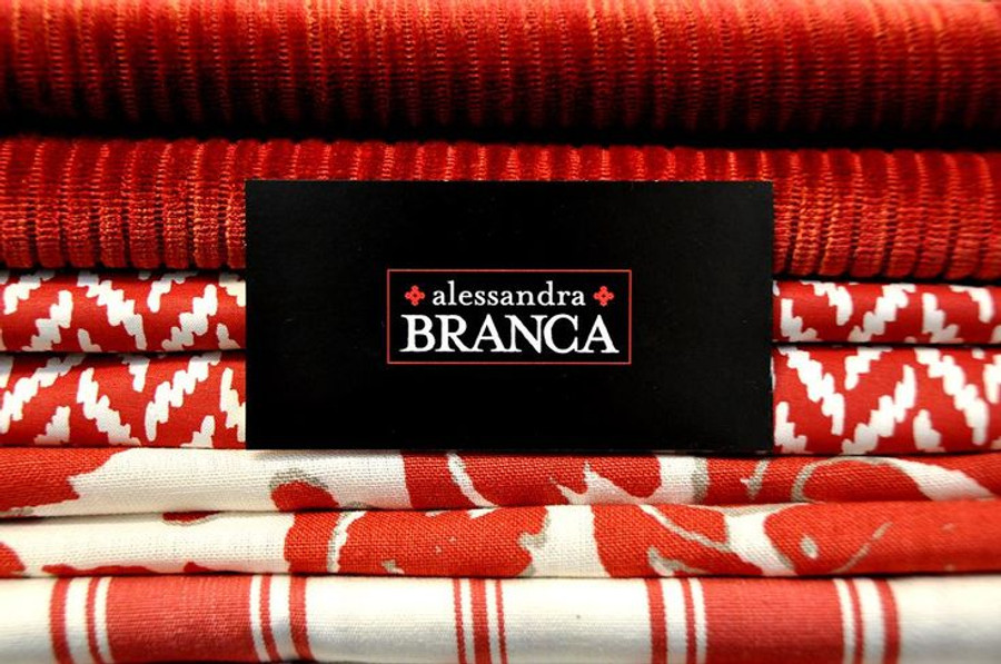Alessandra Branca For Schumacher Branca Stripe Rouge