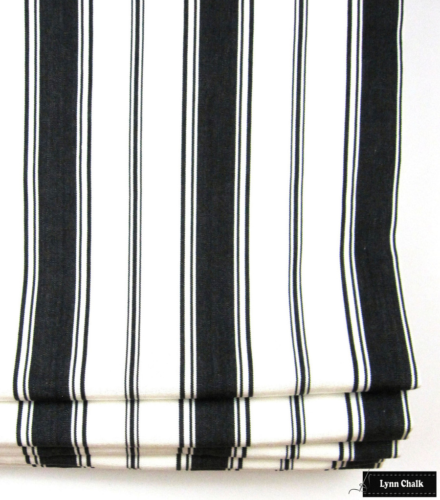 Branca Stripe in Noir Roman Shade