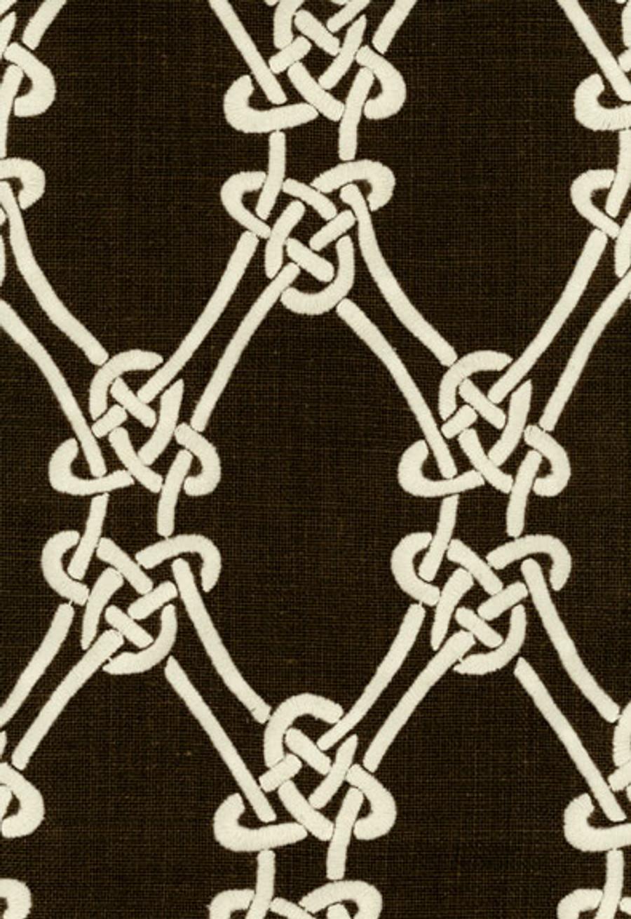 2643922 Schumacher Kelly Wearstler Gordian Weave Natural on Walnut