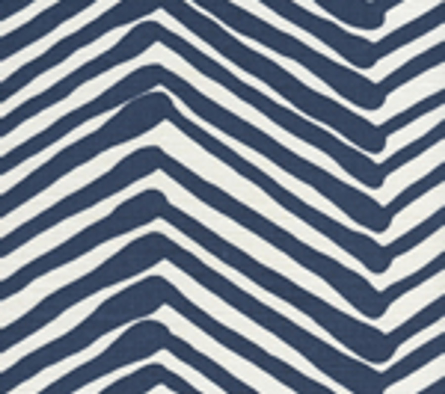 Zig Zag Navy on White AC302-18W