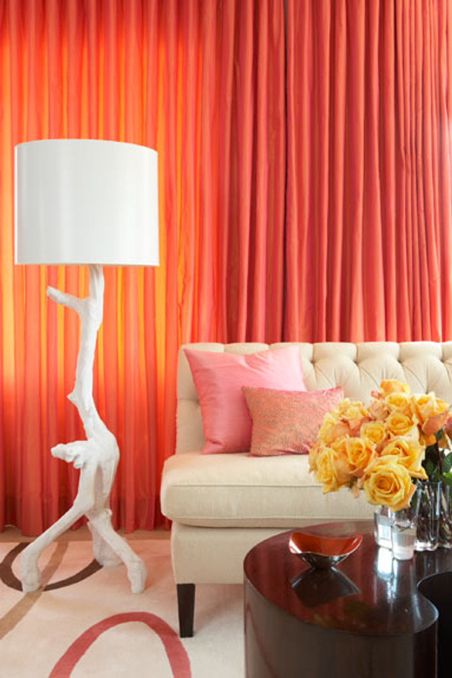 Bright Orange Drapes