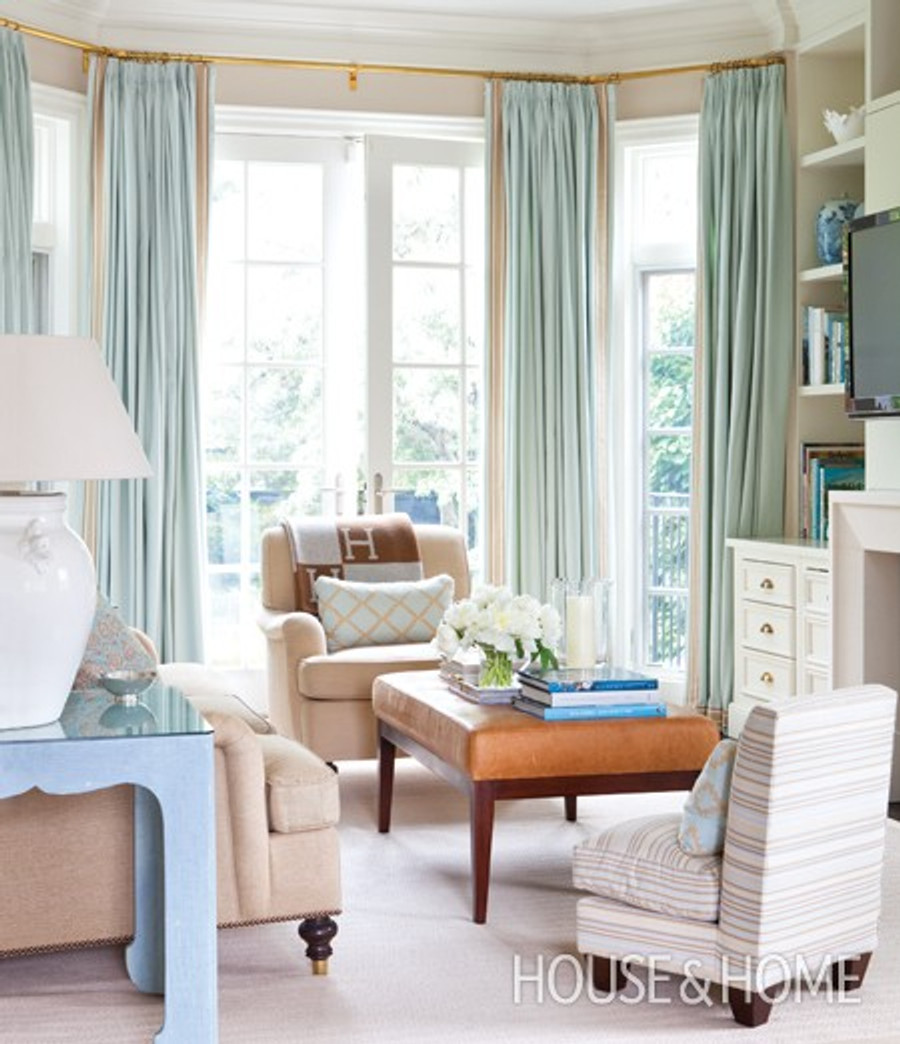Beautiful Aqua Drapes (House & Home-Hepfer Balmoral)