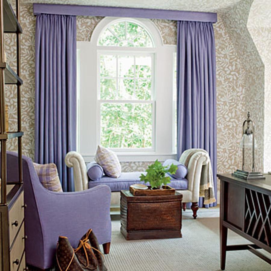Drapes in Manuel Canovas Kesa in Lavender Cowtan & Tout