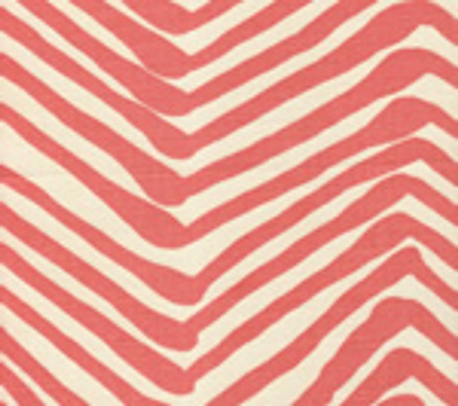 Quadrille Alan Campbell Zig Zag Salmon on Tint