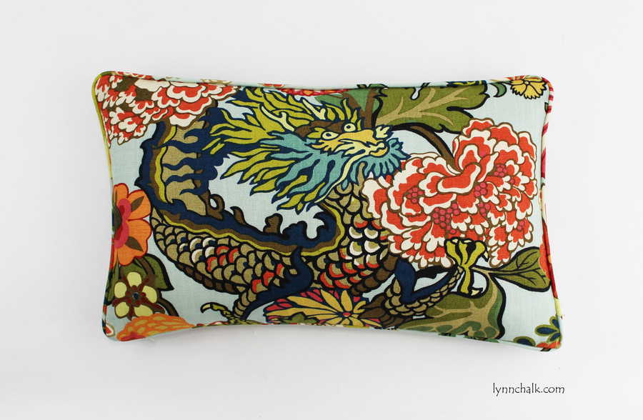 14 X 24 Pillow in Chiang Mai Dragon Aquamarine