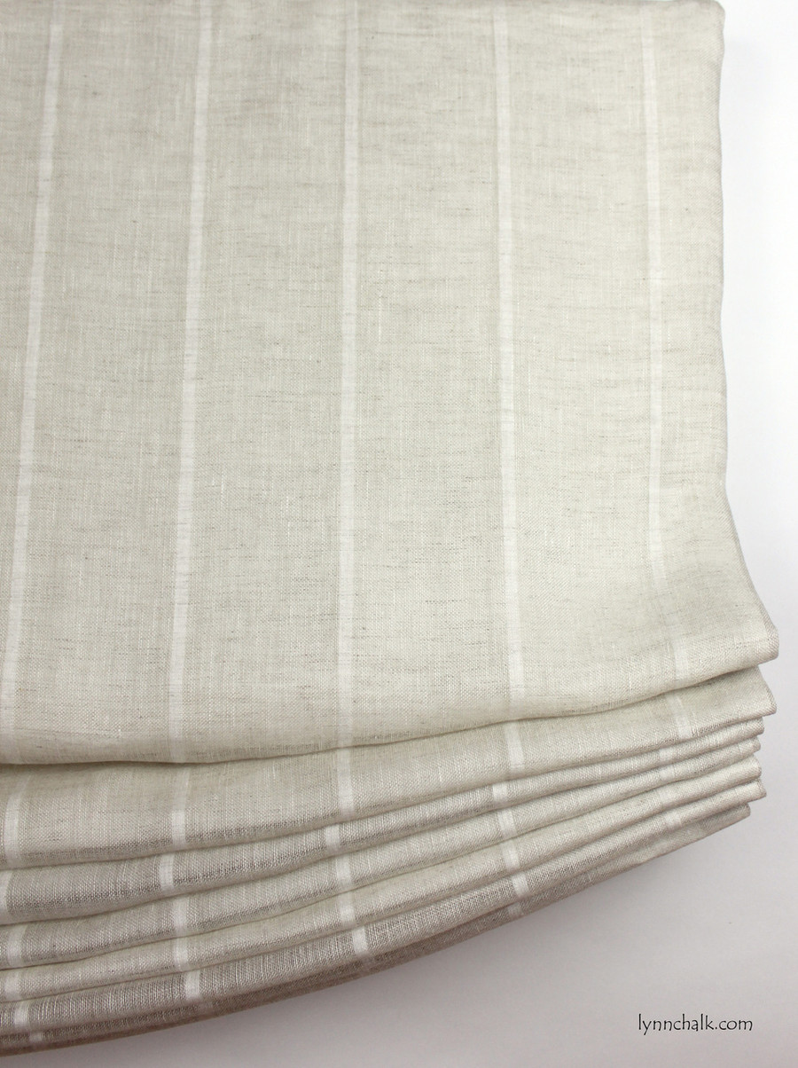 Casual Relaxed Roman Shade Kravet 3586-16 Sheer Linen Stripe