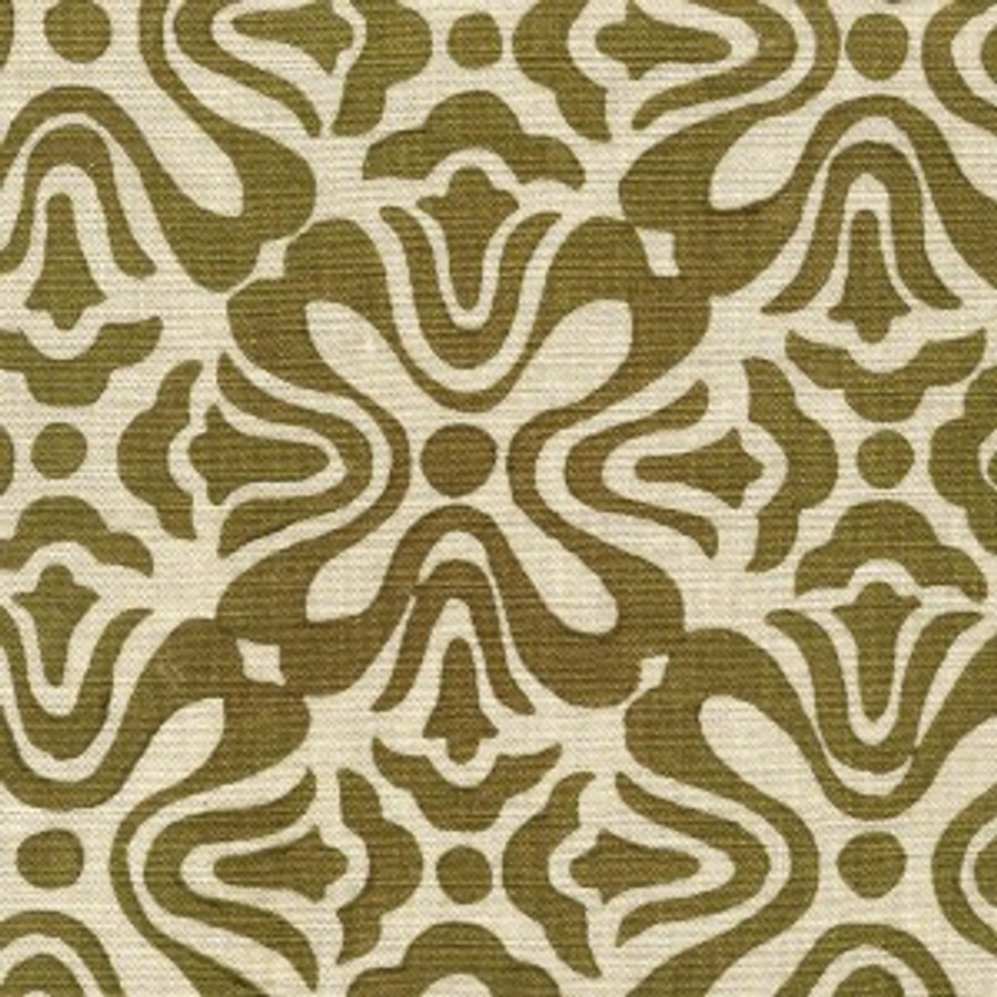 Olive on Natural Linen