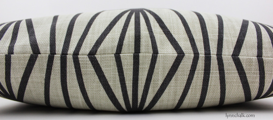Kelly Wearstler Katana Custom Pillows in Ivory Ebony