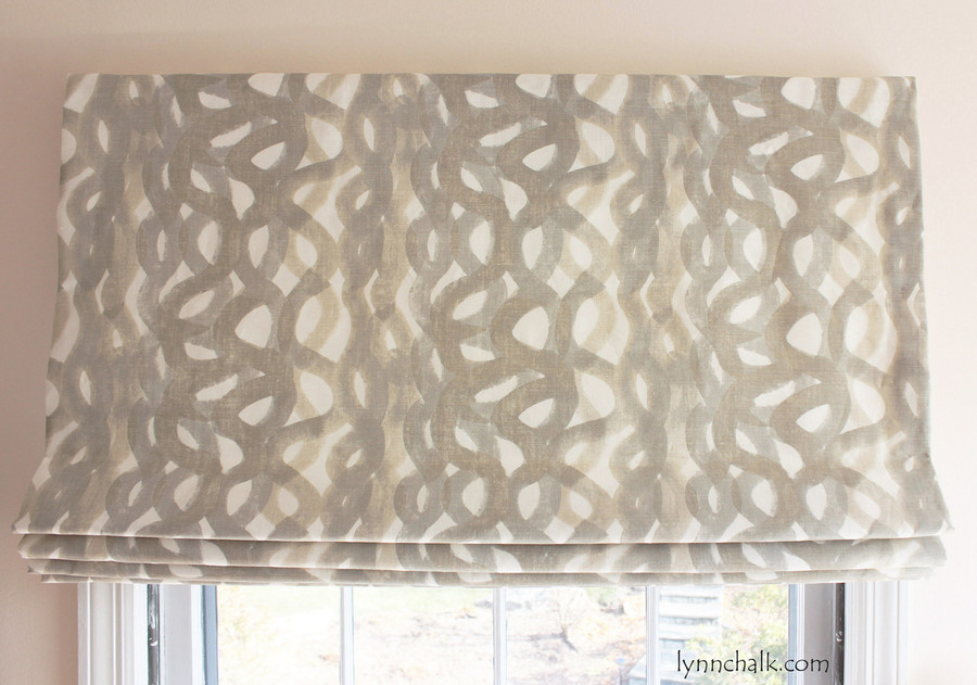 Custom Roman Shade in Christopher Farr Fathom in Smoke