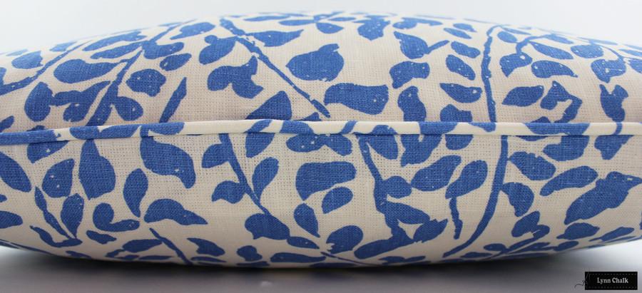 Quadrille China Seas Arbre De Matisse Pillows (shown in Reverse Ecru on Natural)