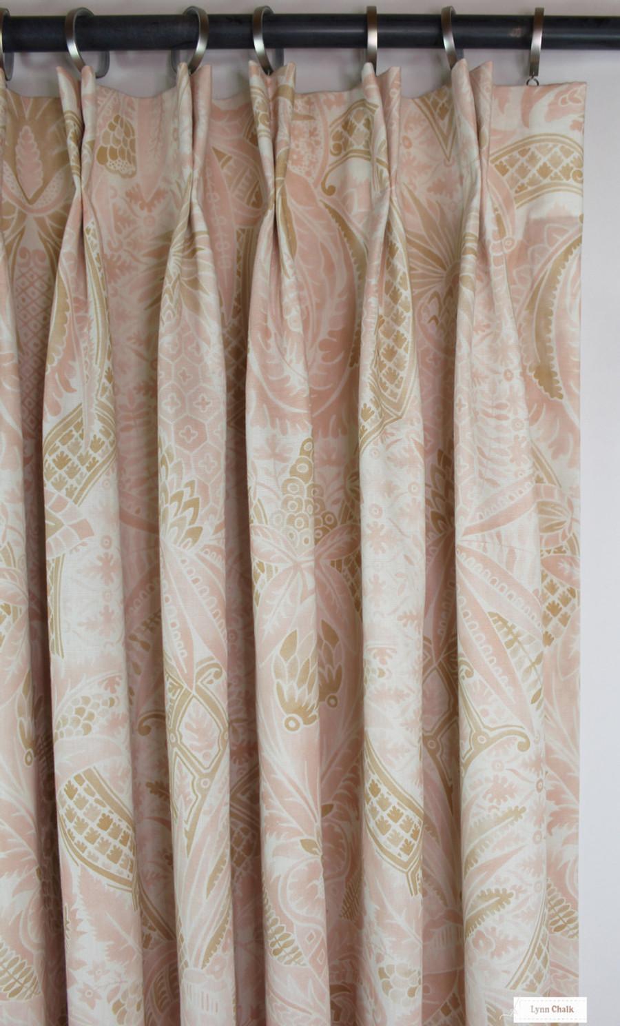 Custom Drapes in Cap Ferrat Blush