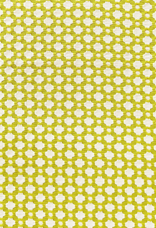 Schumacher Celerie Kemble Betwixt 626180 Chartreuse Ivory