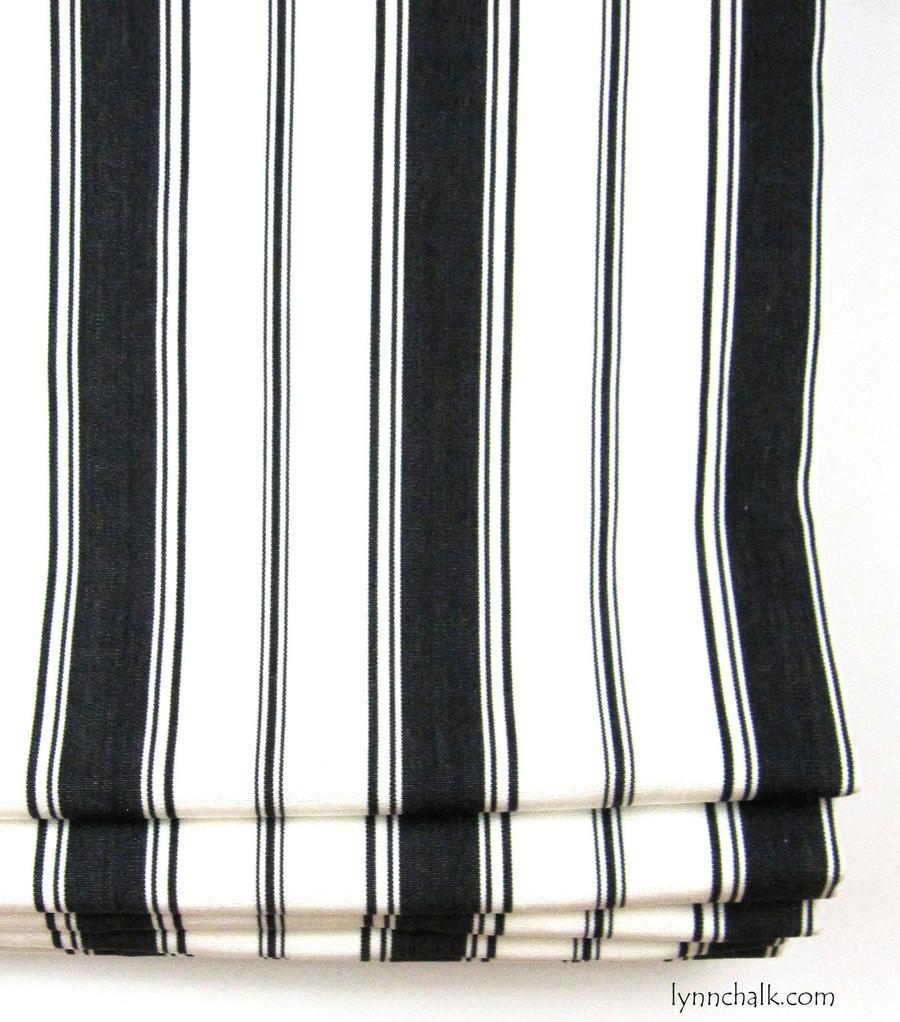 Custom Roman Shades by Lynn Chalk in Branca Stripe Noir