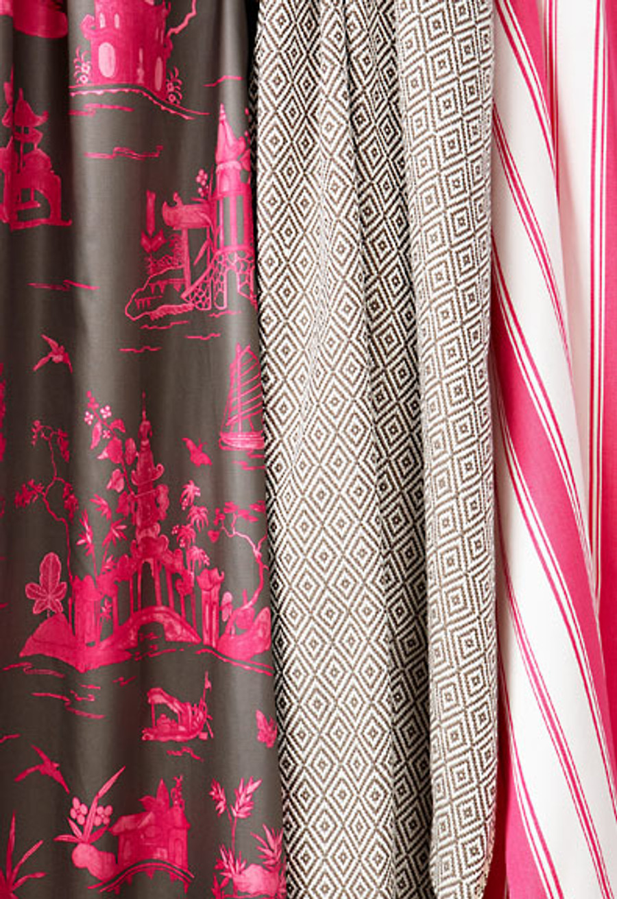 Alessandra Branca For Schumacher Branca Stripe Roman Shades (shown in Noir-comes in 5 colors)