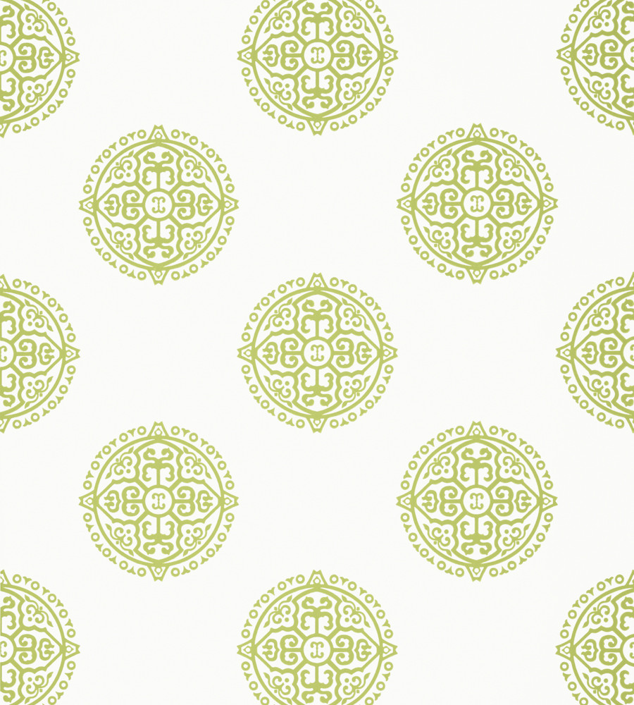 Thibaut Enchantment Wallpapers- Halie Circle Green T36171-01