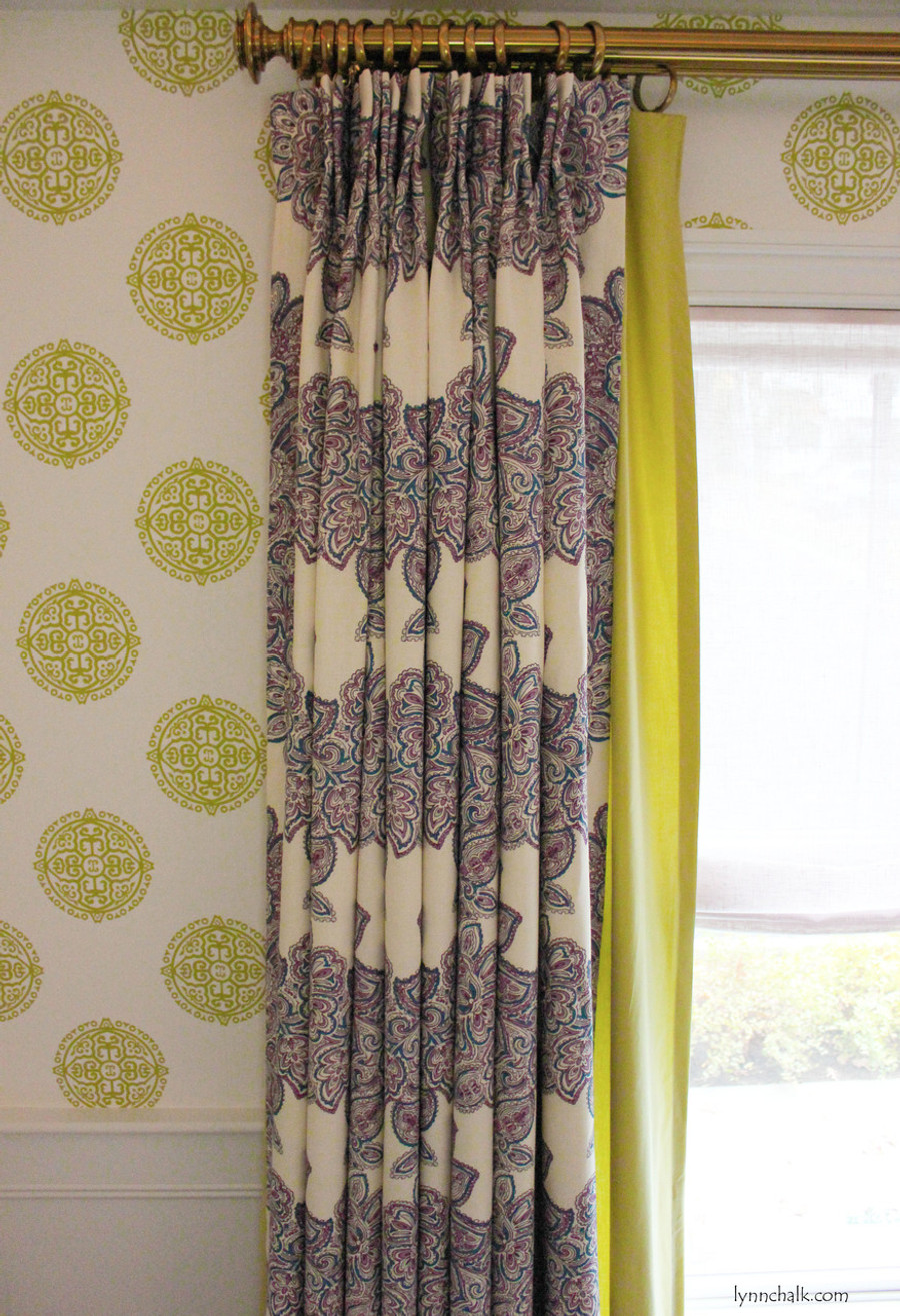 2nd Layer Of Drapes In Fabricut Classic Chintz